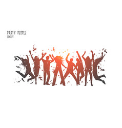 party people concept hand drawn isolated vector image