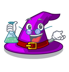 Professor with hat in the character closet vector