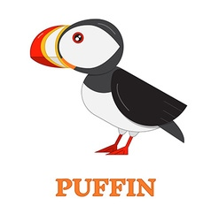 Puffin Sea Bird Icon vector