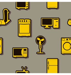 Seamless background with home technics vector image