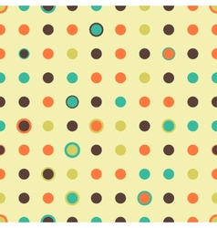 Seamless Pattern With Polka dot vector image