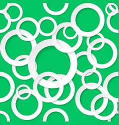 Seamless texture circles on green background vector