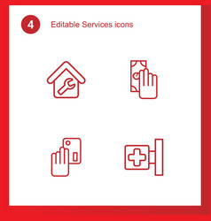 Services icons vector