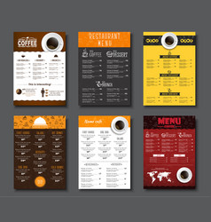 Set a4 menu for cafes and restaurants vector
