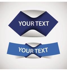 set of blank blue labels vector image vector image