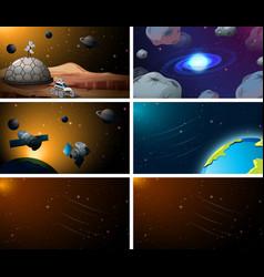 Set space scenes vector