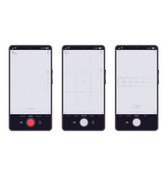 smartphone camera interface mobile phones video vector image