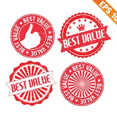 Stamp sticker best value collection - - eps vector