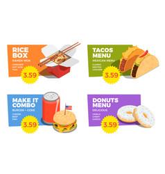 street food concept set vector image