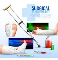 surgical traumatology concept vector image