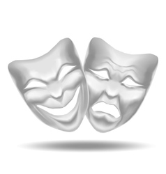 Template Blank White Mask Theatre vector image