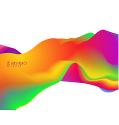 Trendy abstract wave in vibrant colors vector