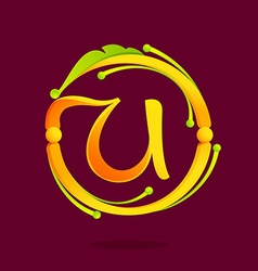 U letter monogram design elements vector image