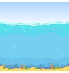 Underwater seamless landscape cartoon background vector