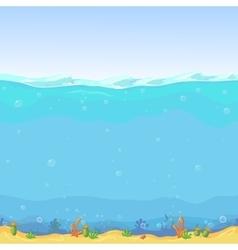 Underwater seamless landscape cartoon background vector