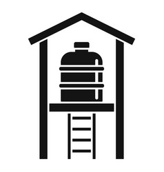 Water reserve barrel icon simple style vector