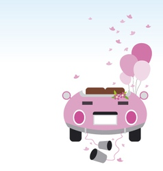 Wedding car design vector