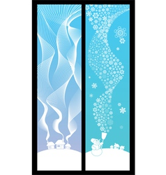 winter banners vertical vector image