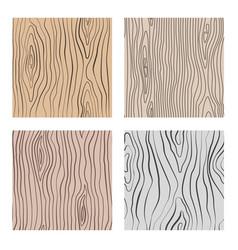Wooden seamless patterns set wood grain vector
