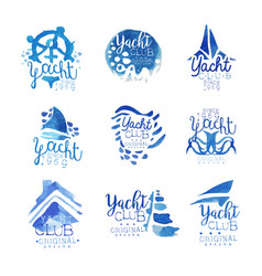 Yacht club sailing sports or marine travel vector