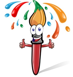 brush cartoon vector image