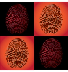 Fingerprints vector image