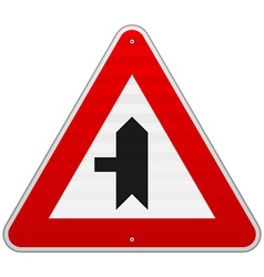 Left Crossroad Sign vector image vector image