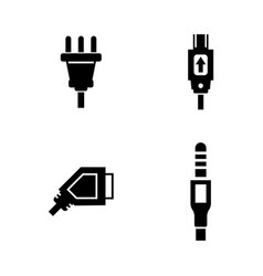 plug simple related icons vector image