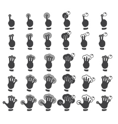 Set of multitouch gestures vector image