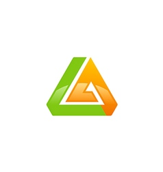 abstract triangle shape technology logo vector image vector image