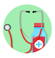 diagnosis and treatment of icon vector image vector image