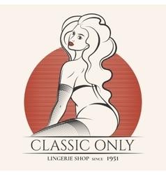 Lingerie Shop Emblem vector image