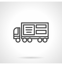 Lorry ad black line icon vector image vector image