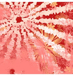 Red Floral Grunge vector image vector image