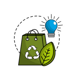 reduce and save electry energy icon vector image