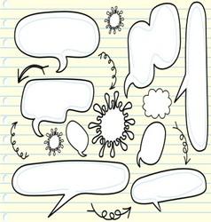 sketchy bubble speech vector image vector image