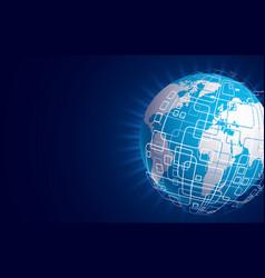 modern techology concept background global vector image vector image