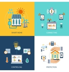 Smart house design concept flat vector image vector image