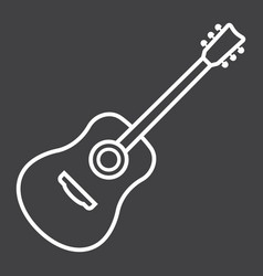 acoustic guitar line icon music and instrument vector image