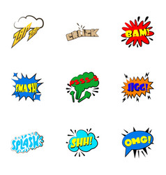 dialog speech bubbles icons set cartoon style vector image
