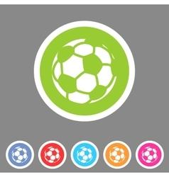 Football soccer icon flat web sign symbol logo vector image vector image