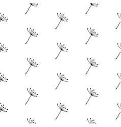 hand drawn dandelion seeds seamless pattern vector image