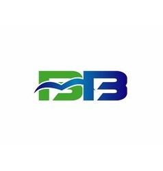 Letter B and D logo vector image vector image