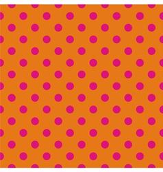 Pink polka dots tile wallpaper background vector image