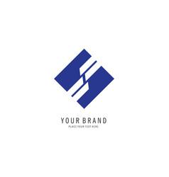square finance logo vector image