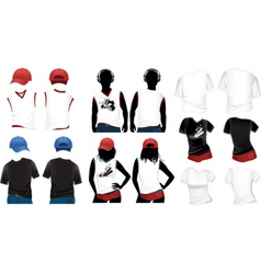 womans and mans tshirts vector image