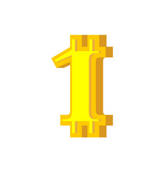 1 numeral bitcoin font one numeric crypto vector image