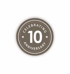 10 years anniversary celebrating retro vintage vector