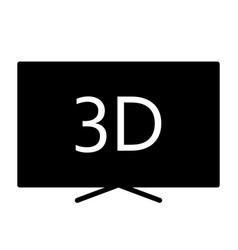 3d television silhouette icon tv video symbol vector image