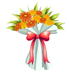 A boquet of yellow and orange flowers vector